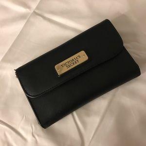 Victoria's Secret black wallet with mirror